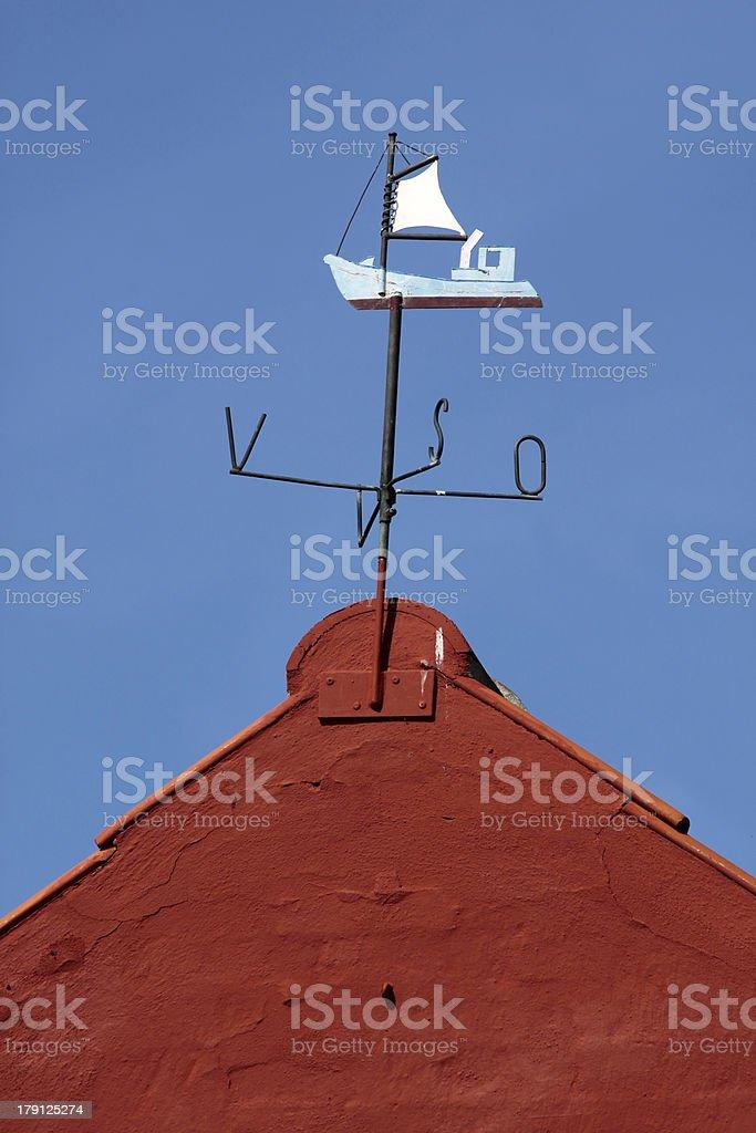 Wind vane sailing vessel royalty-free stock photo