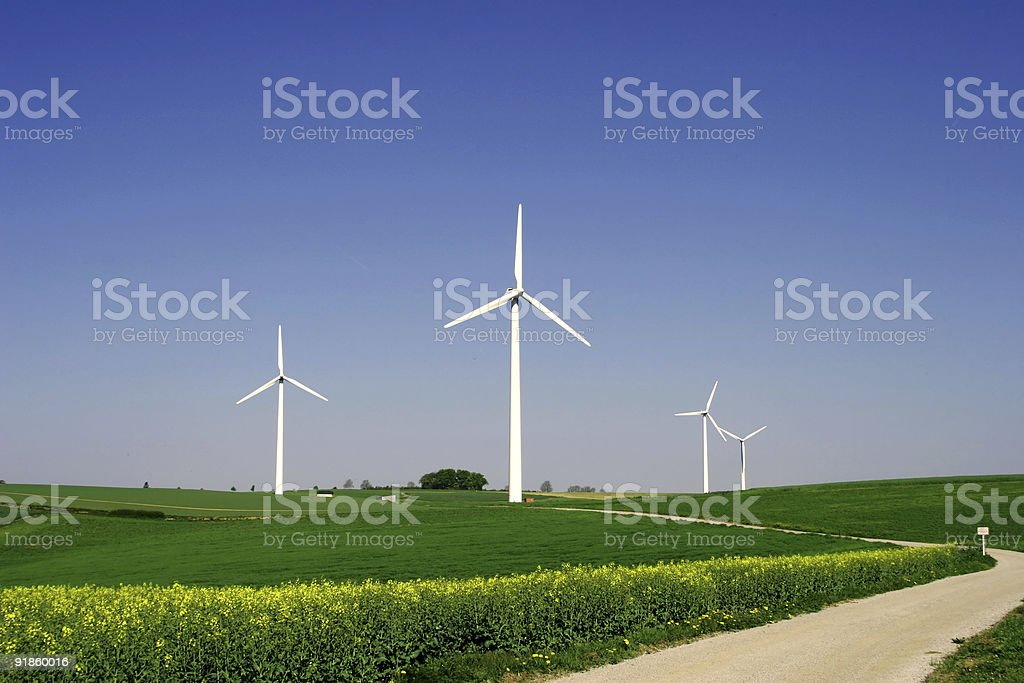 Windenergy 8 royalty-free stock photo