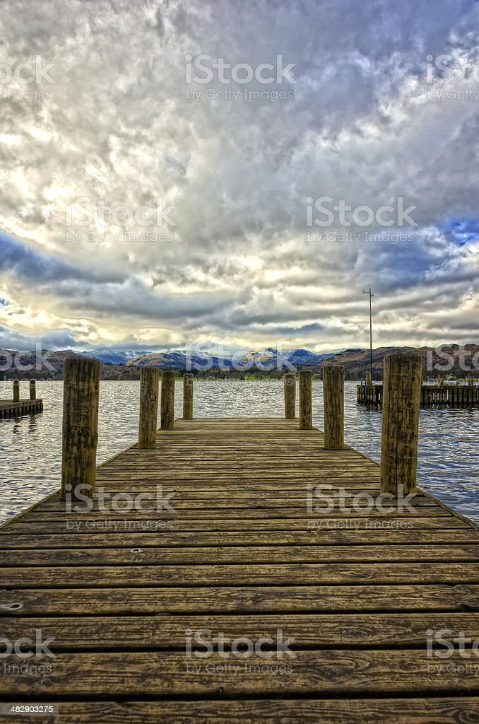 Windermere Jetty royalty-free stock photo