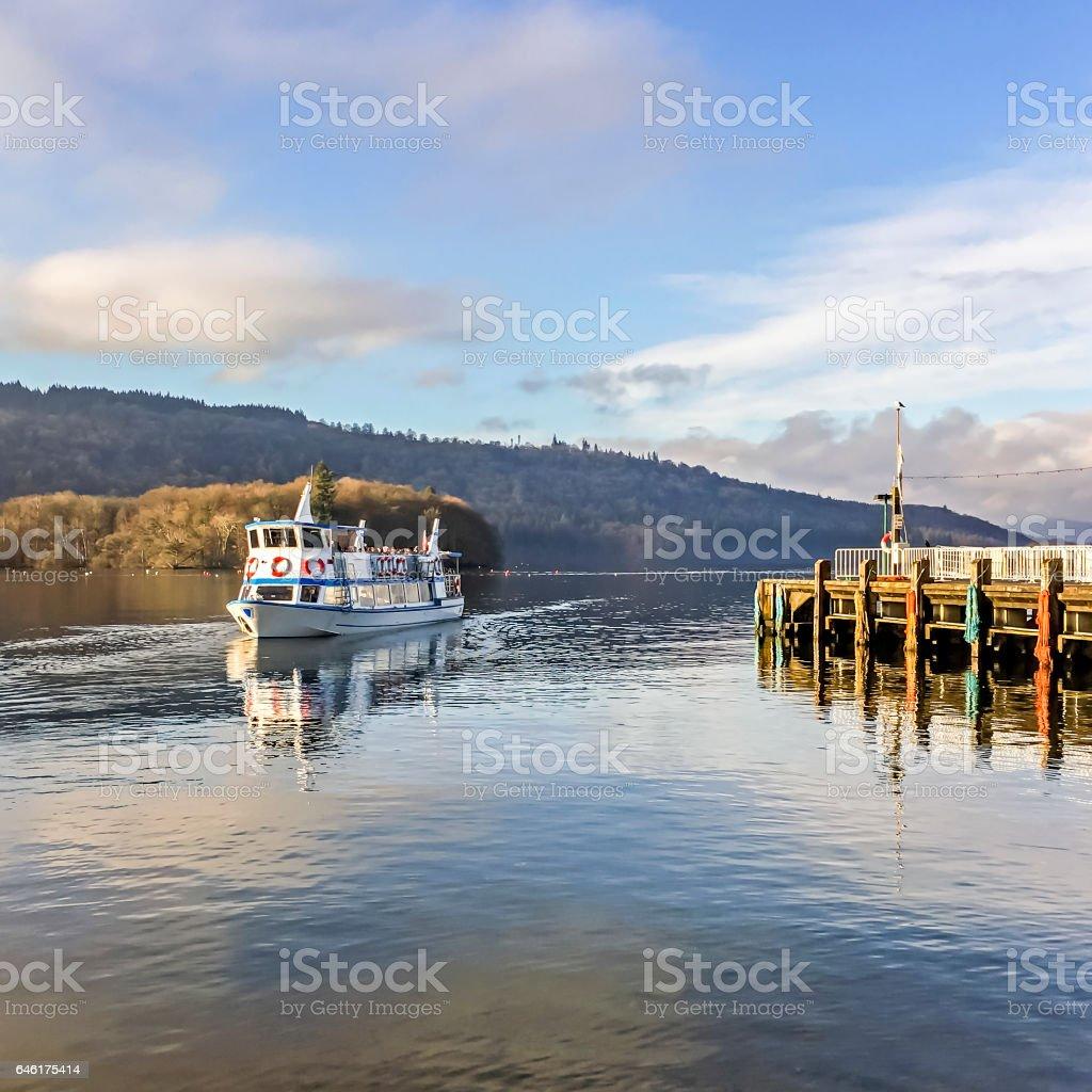 Windermere Pleasure Boat stock photo