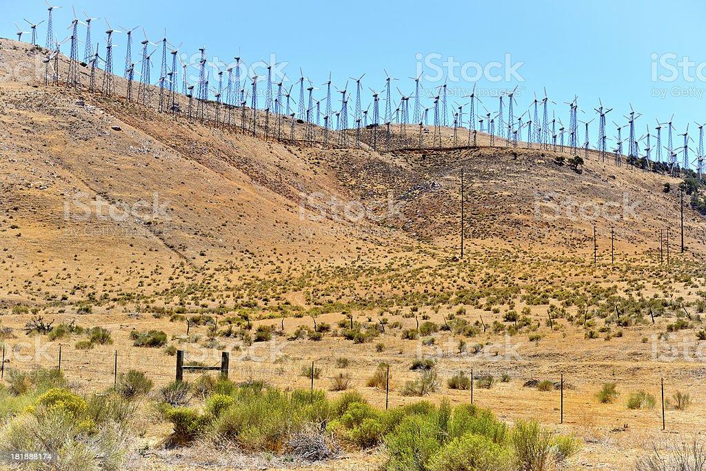 Windfarm at Mojave, USA. royalty-free stock photo