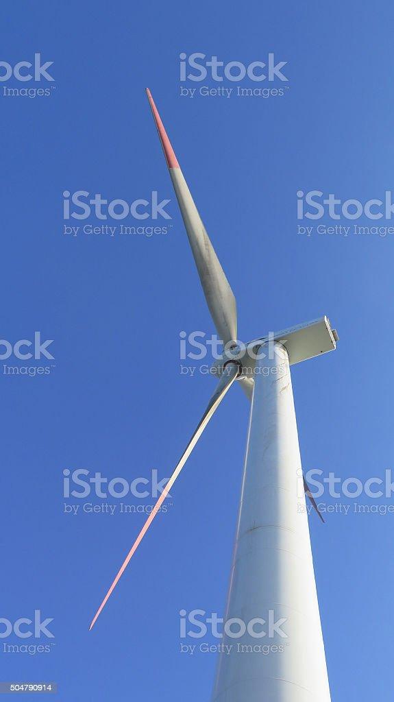 Windfarm on Mountain stock photo