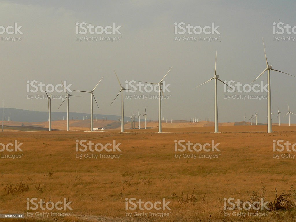 Windfarm stock photo