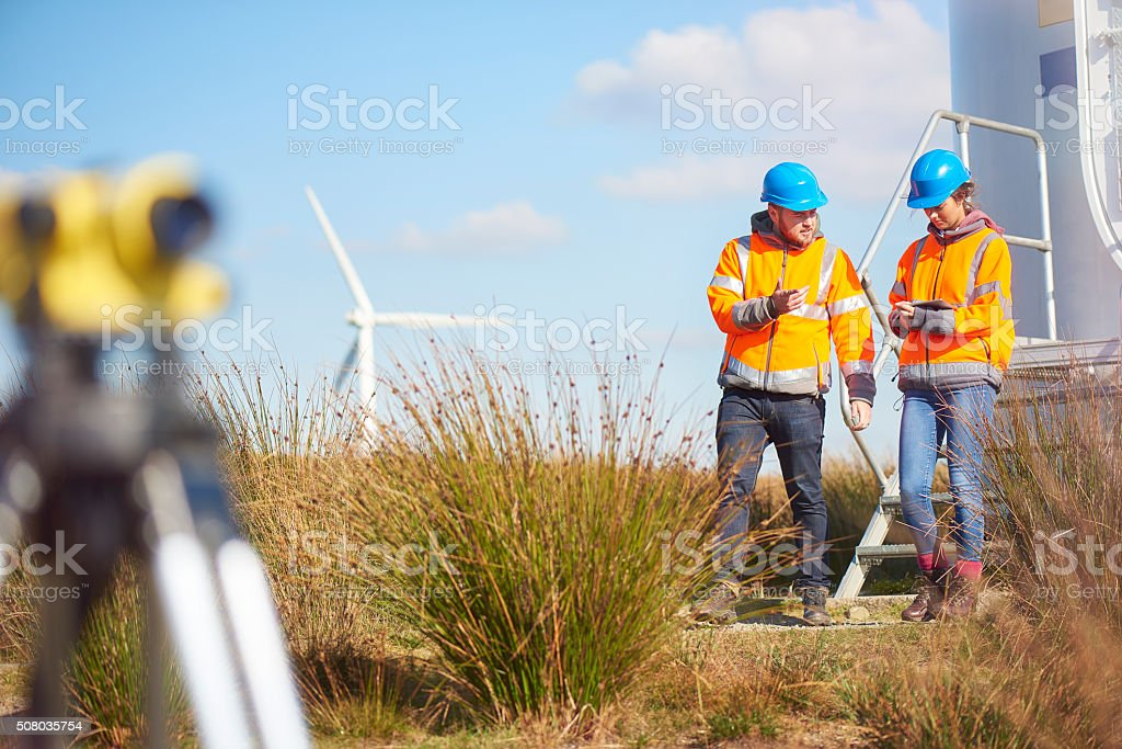 windfarm power engineers – Foto
