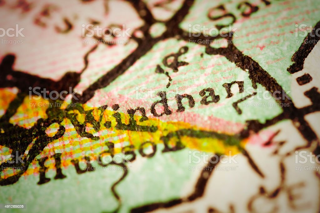 Windham, New Hampshire on an Antique map stock photo