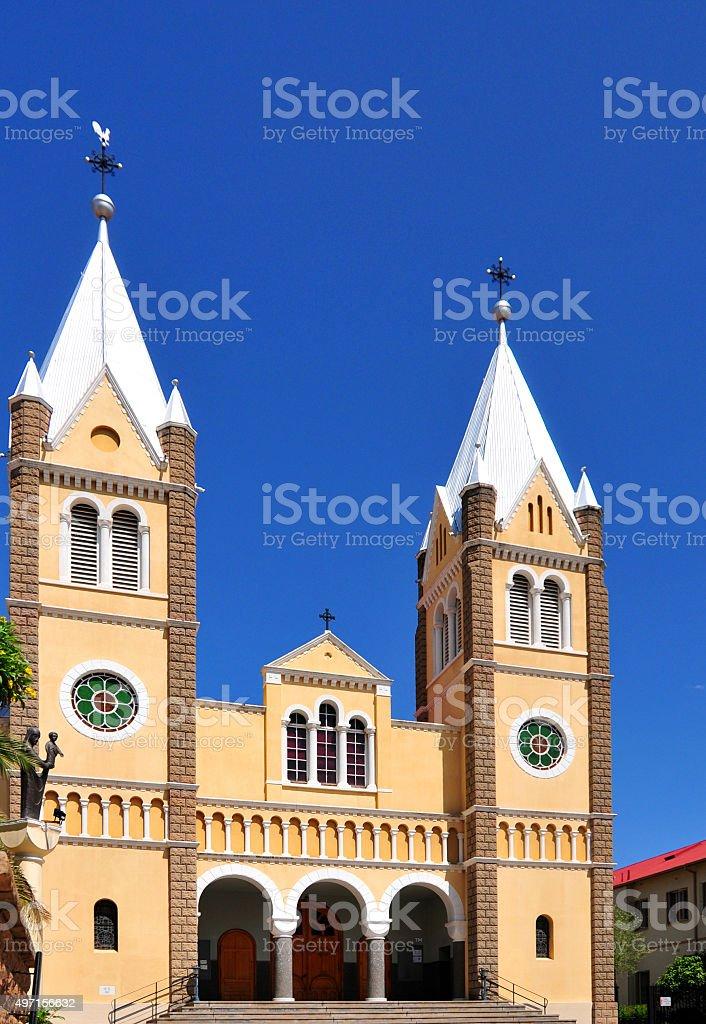 Windhoek Catholic Cathedral, Namibia stock photo