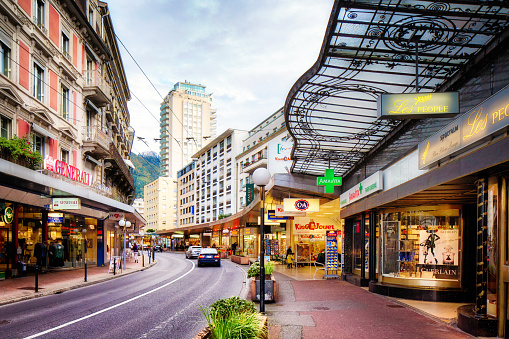 Winding avenue du casino downtown Montreux Switzerland