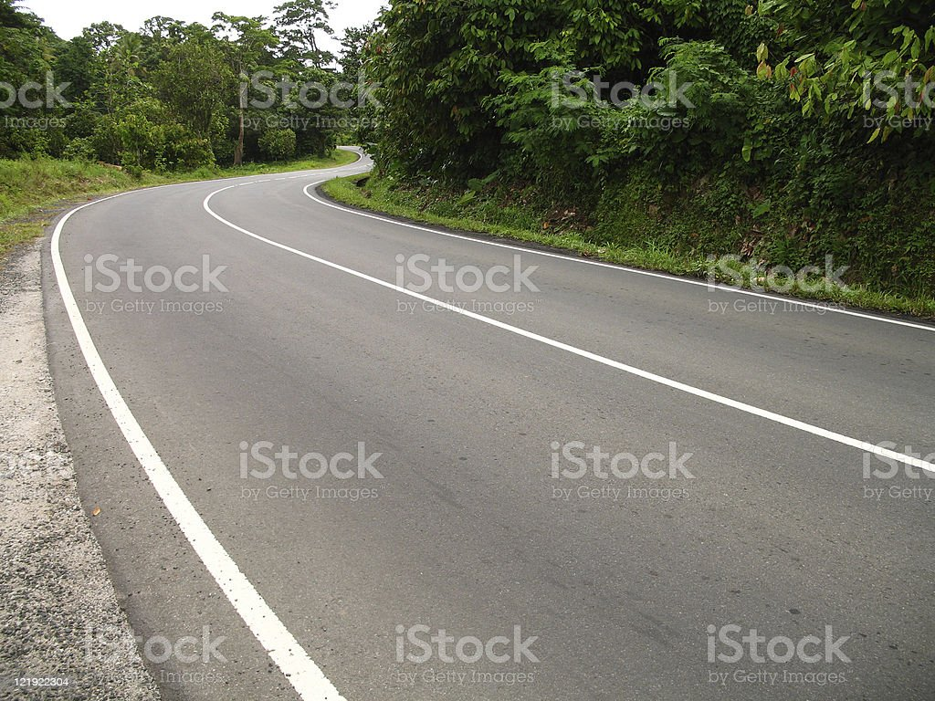 winding back country road royalty-free stock photo