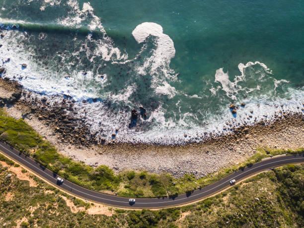海岸沿い道路、ケープタウンを巻き - 南アフリカ共和国 ストックフォトと画像