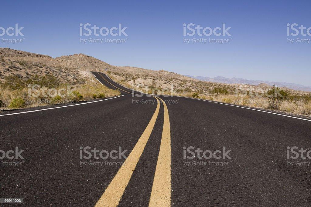 Winding desert road royalty-free stock photo