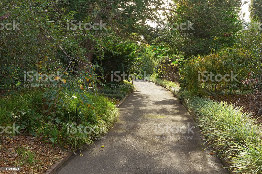 Winding Garden Path royalty-free stock photo