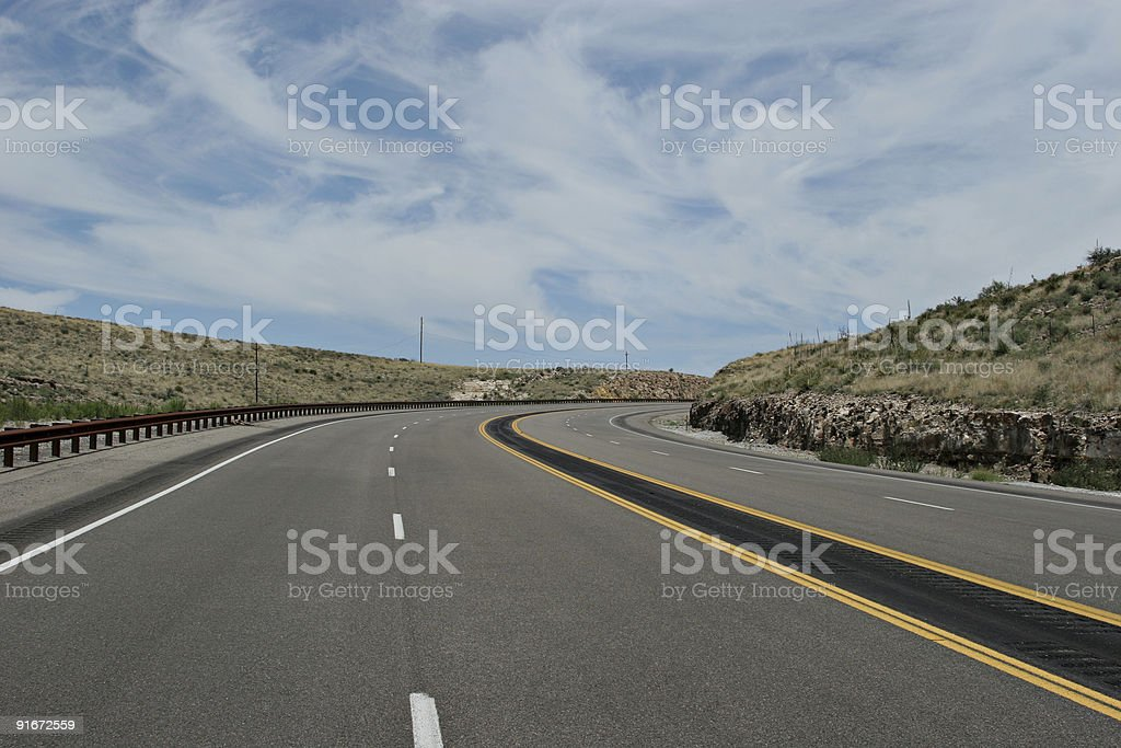 Winding highway royalty-free stock photo
