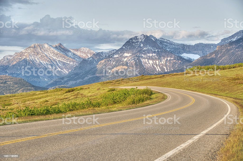 Winding highway with mountain view royalty-free stock photo