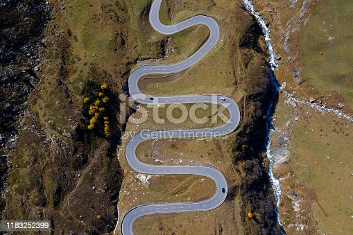 istock Winding, Mountain Road from Above 1183252399