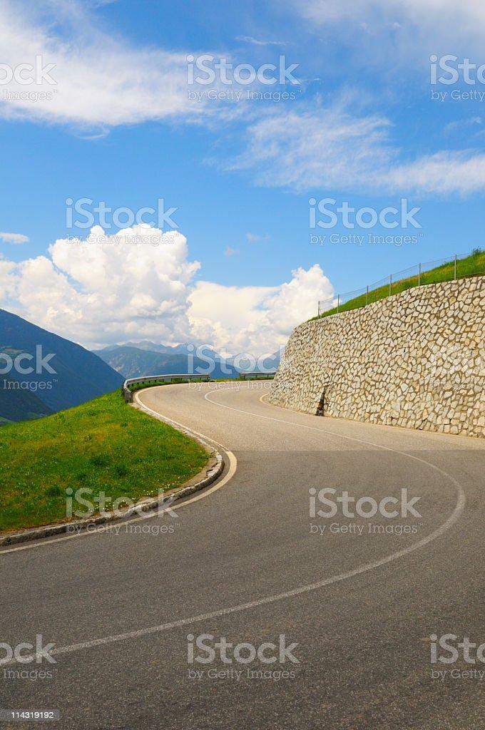 Winding Mountain Road royalty-free stock photo