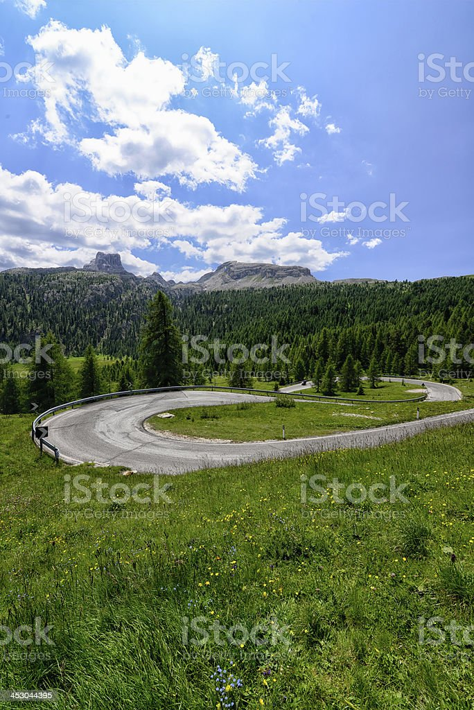 Winding Mountain Road royalty-free stock photo
