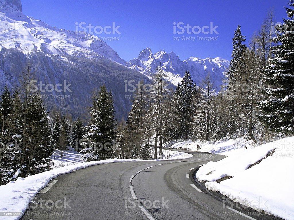 Winter road – Foto