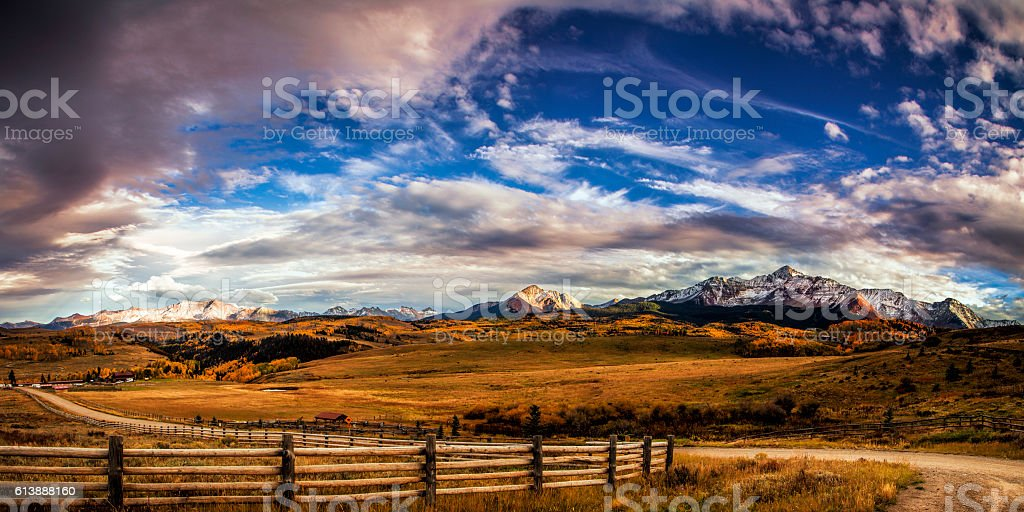 Winding Mountain Trail stock photo