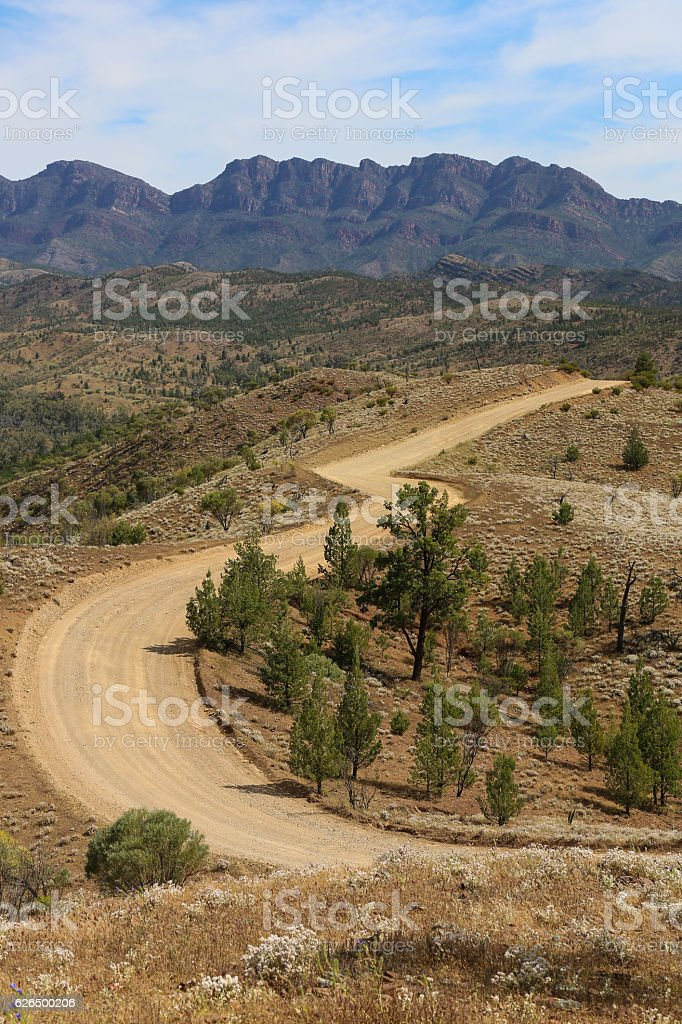 Winding outback road stock photo