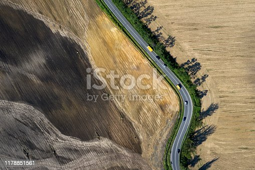 istock Winding Road, Aerial View 1178851561