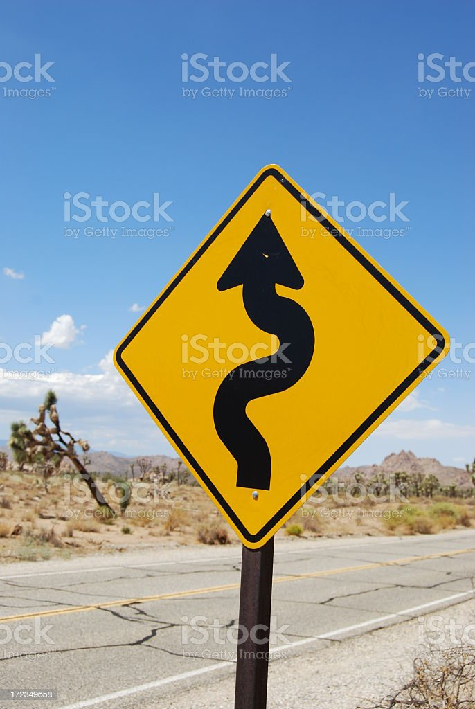 Winding Road Ahead royalty-free stock photo
