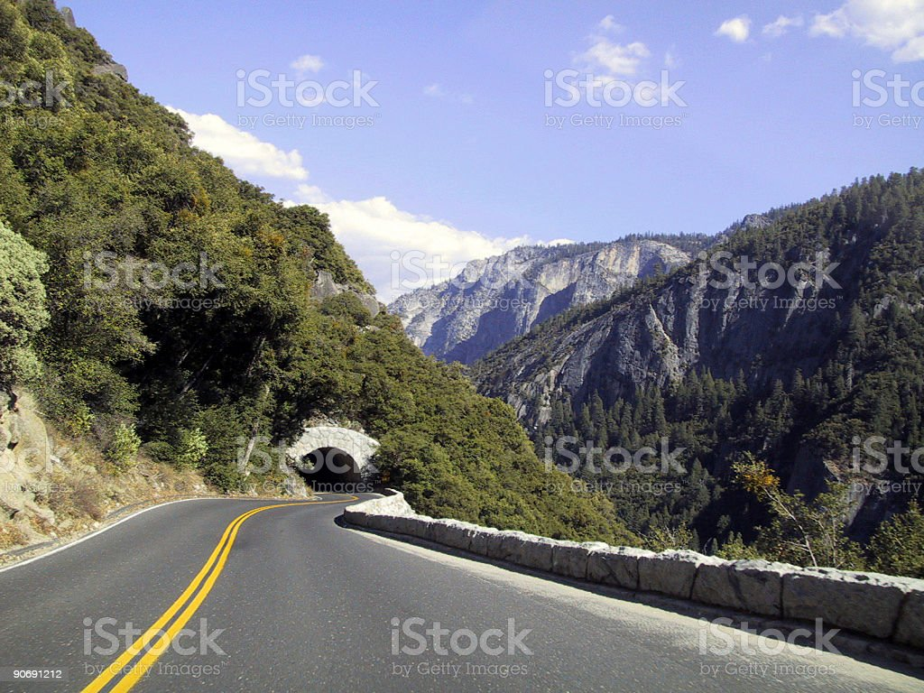 Winding Road & Tunnel royalty-free stock photo