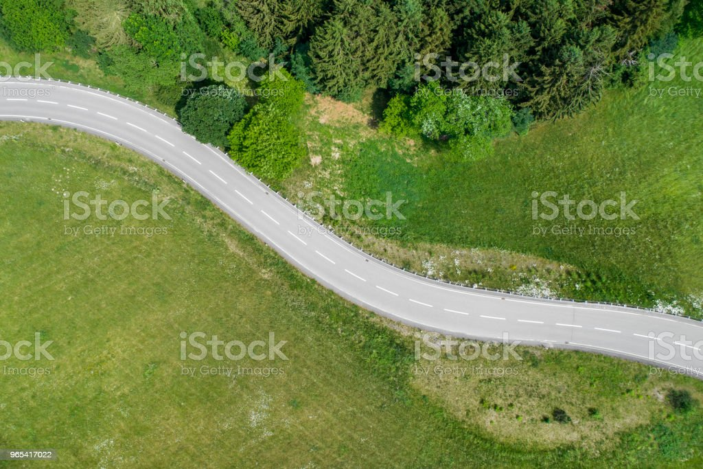 Winding road and car royalty-free stock photo