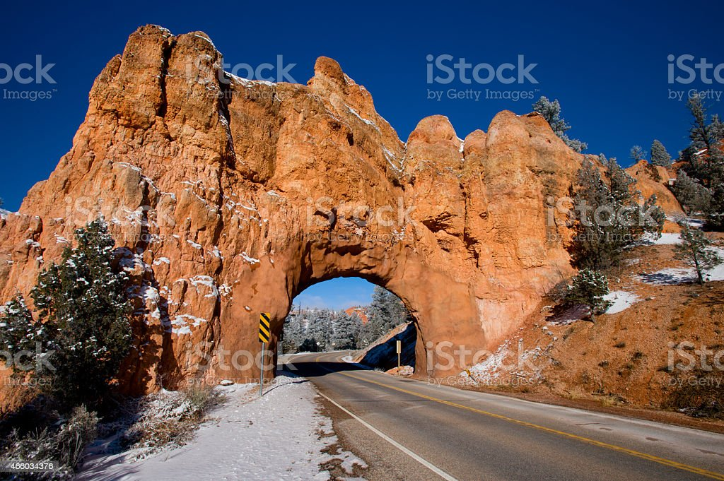 Winding Road at Red Canyon stock photo