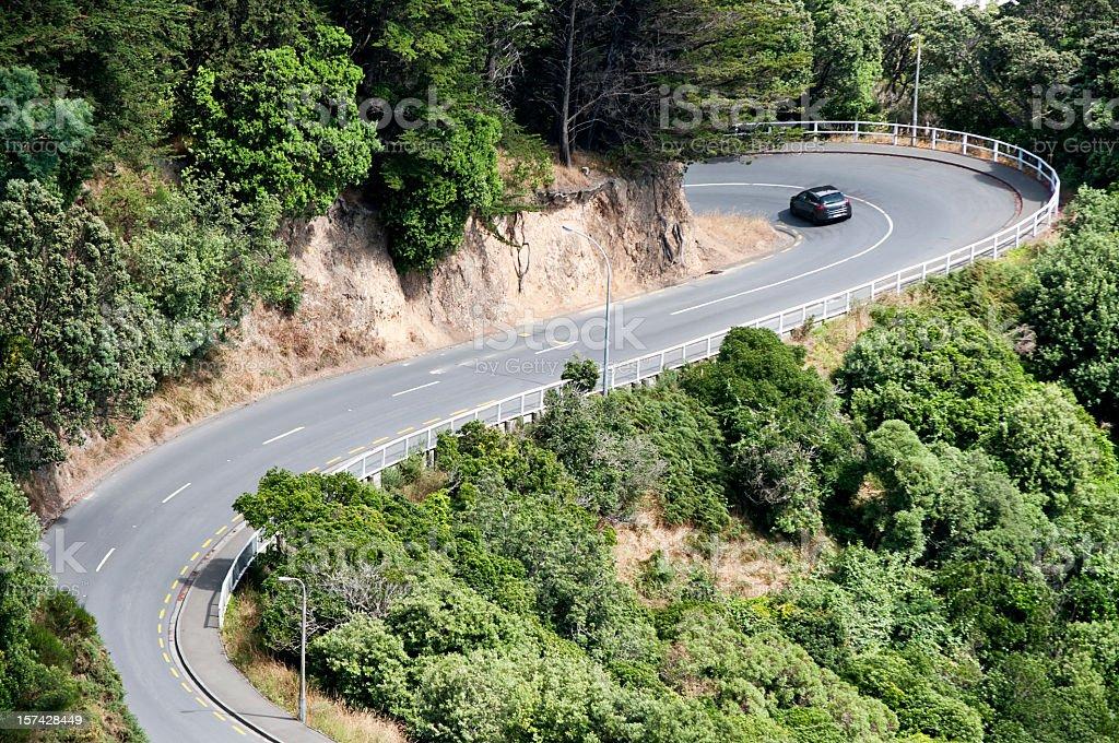 Winding Road Drive royalty-free stock photo