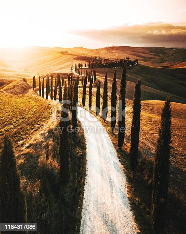 winding road in italy