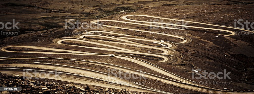 winding road in the mountain royalty-free stock photo