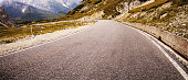 Winding Road on European Alps.