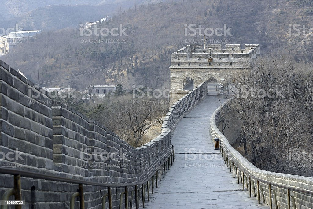 Winding Road on The Great Wall stock photo