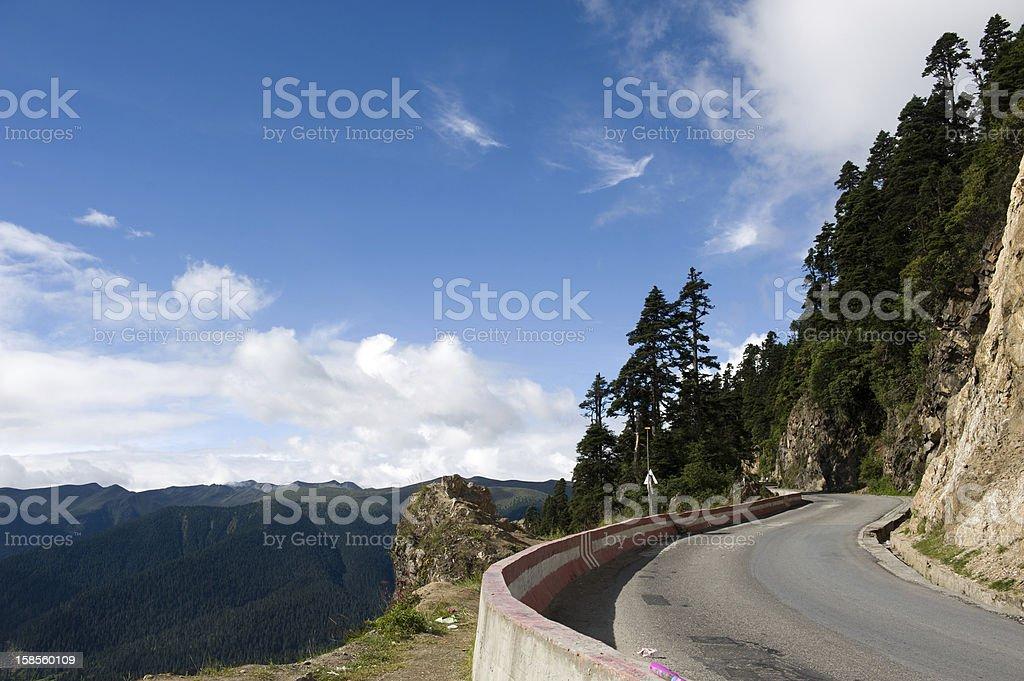 구불구불한 road royalty-free 스톡 사진