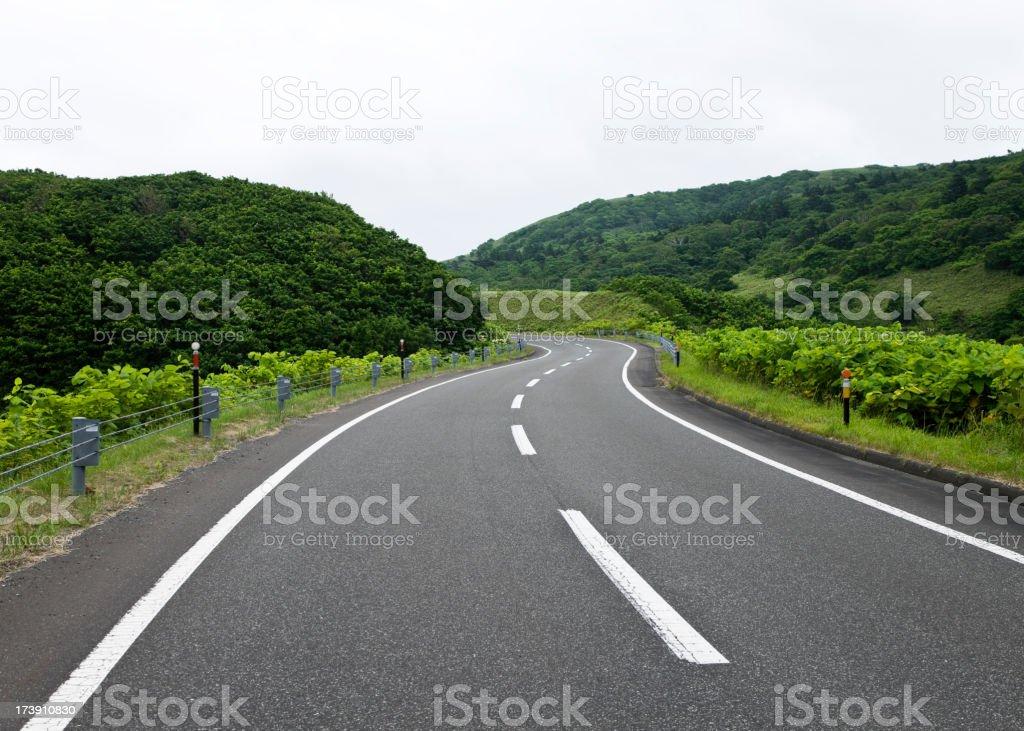 Winding Road royalty-free stock photo