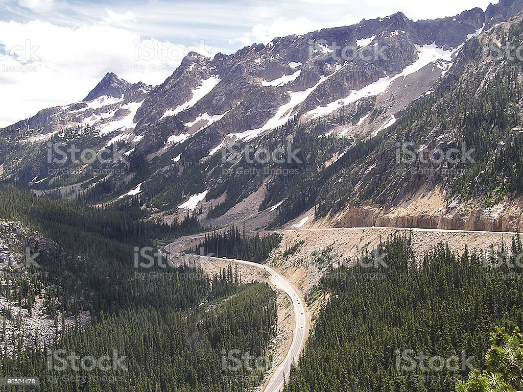 Winding road royalty-free stock photo