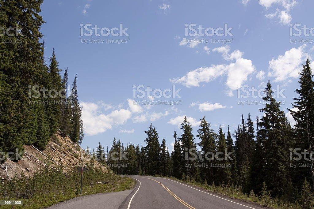 Winding road through Oregon wilderness royalty-free stock photo