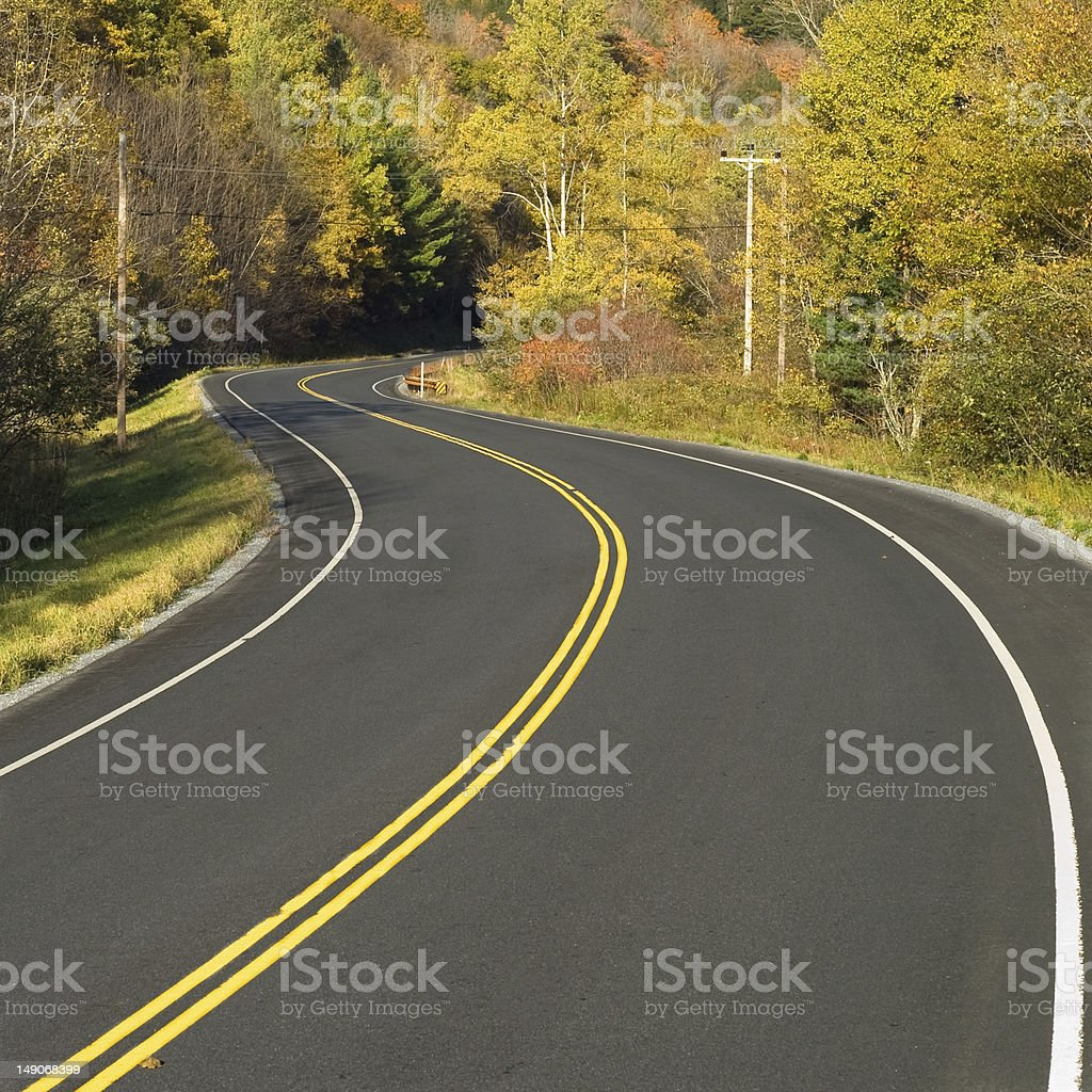 Winding scenic highway royalty-free stock photo