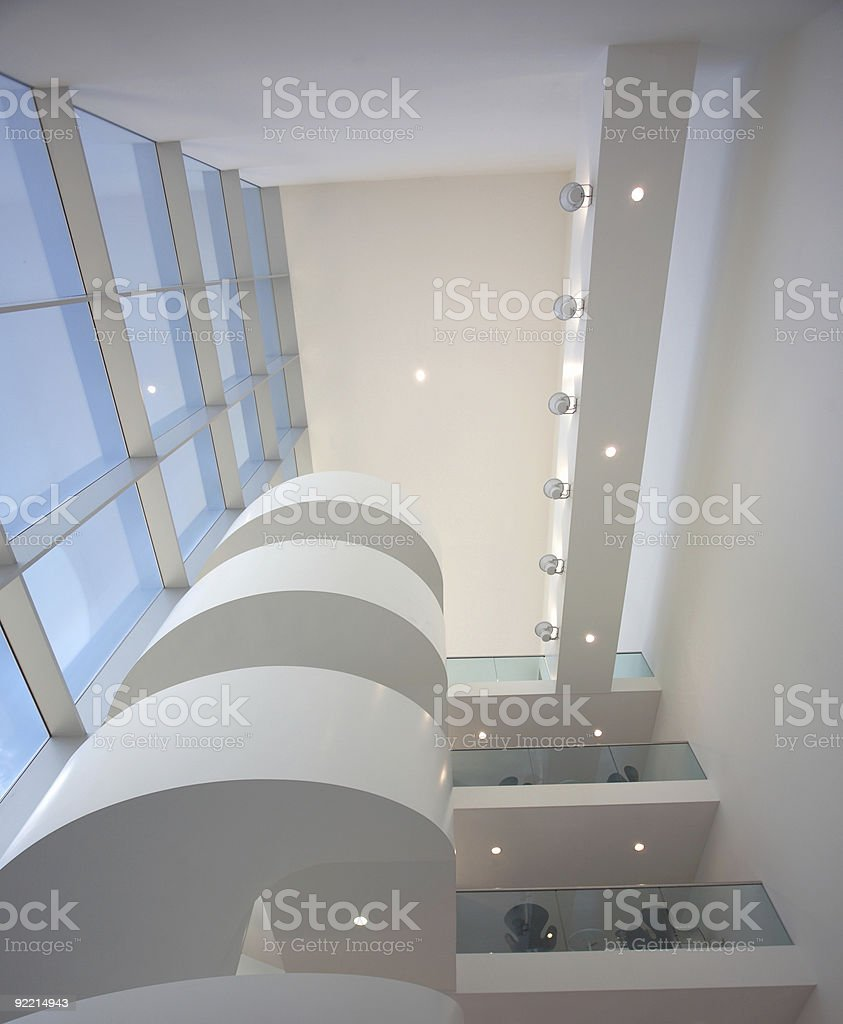 Winding staircase royalty-free stock photo