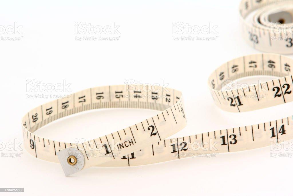 Winding tape measure. royalty-free stock photo