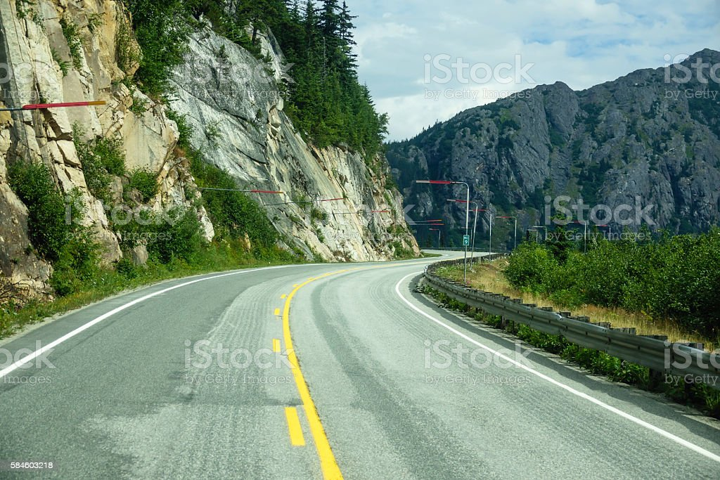 Winding way forward stock photo