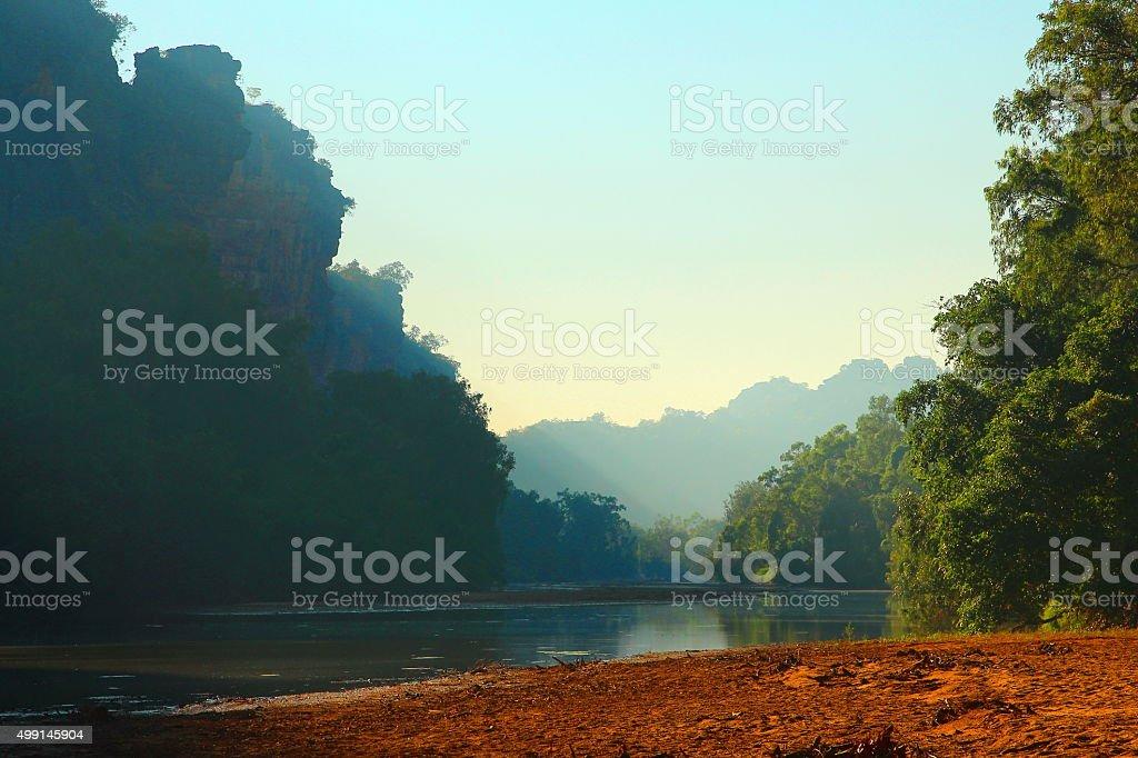 Windjana Gorge, Kimberley, Western Australia stock photo