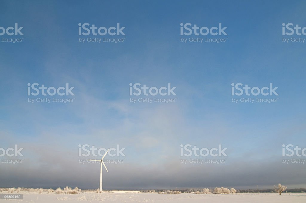 Windmill and blue sky - Royalty-free Beauty In Nature Stock Photo
