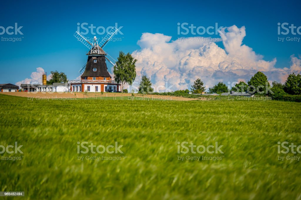Windmill and Blue Sky royalty-free stock photo
