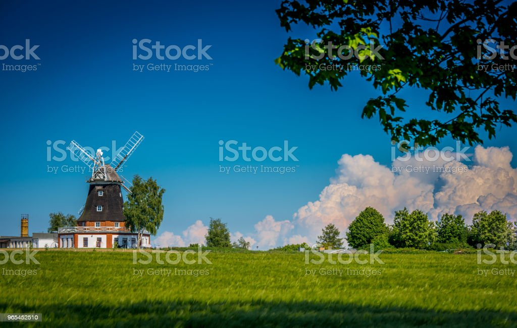 Windmill and Blue Sky zbiór zdjęć royalty-free