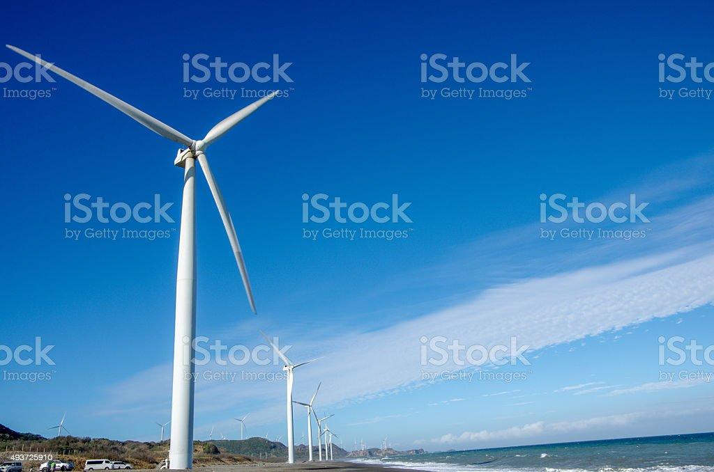 Windmill at Bangui stock photo