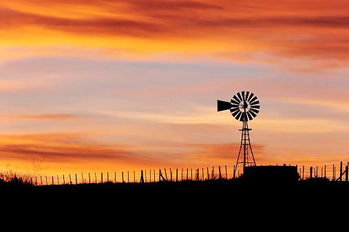 Windmill at Dusk