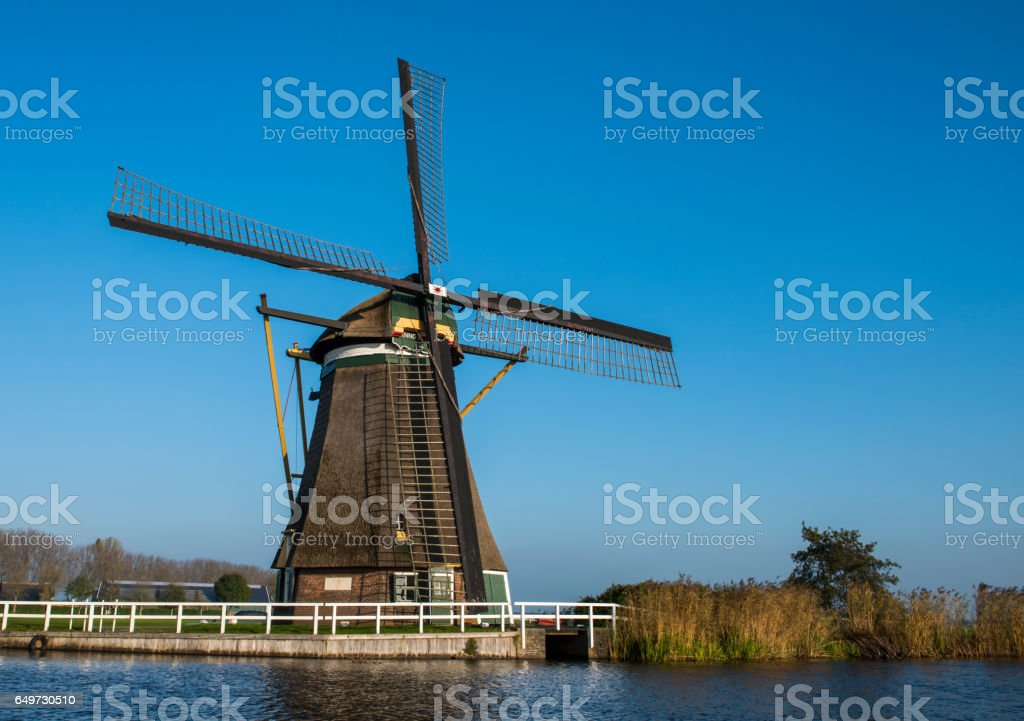 Windmill at Groot-Ammers stock photo