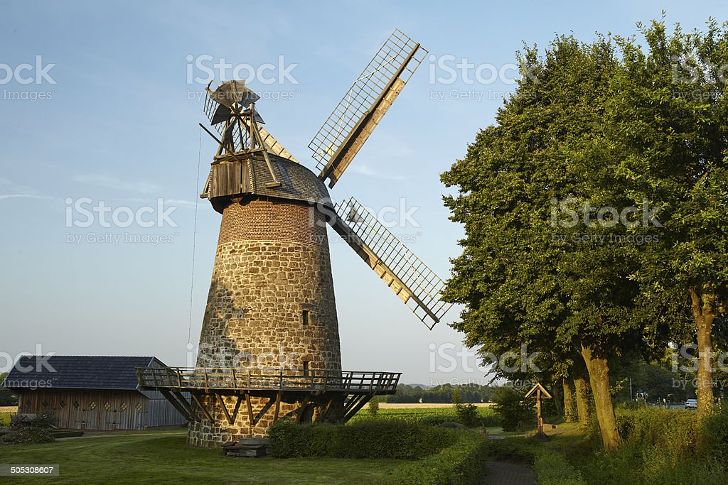 Windmill Eilhausen (Luebbecke, Germany) stock photo