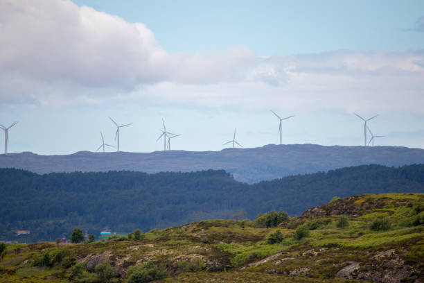 Windmill Farm in Norwegen. – Foto